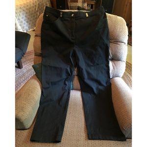 St John Sport Black Twill Pants Size 16